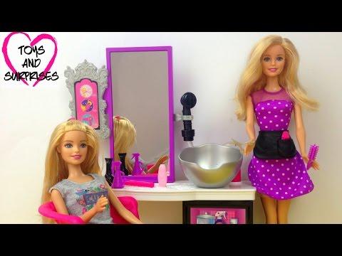 ❀ Куклы Барби Мультик для девочек Видео с куклами  Салон Красоты Игры Игрушки для детей на русском