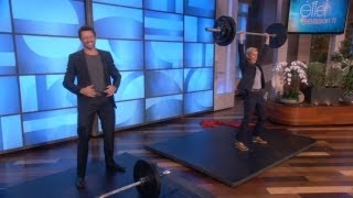Who Can Lift More? Ellen or Hugh Jackman?