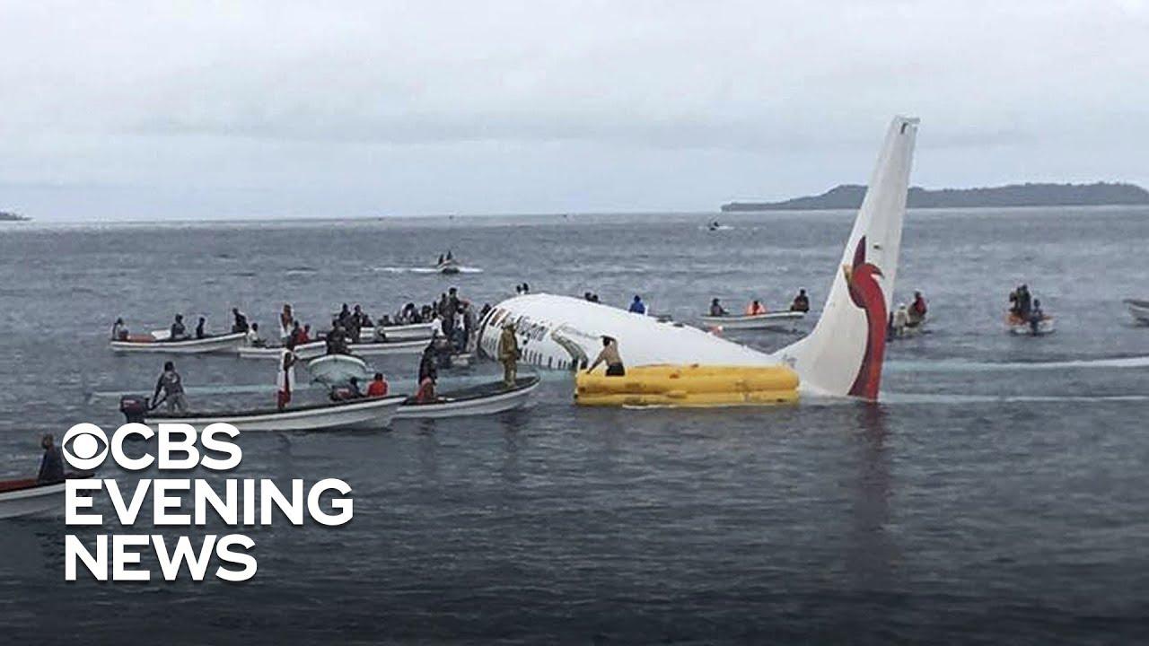 Air Niugini plane crash: American passenger describes plane missing runway