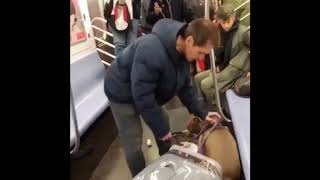 MAN'S DOG GONE MAD ON NEW YORK CITY SUBWAY -- What Would You Do?? [VIDEO]