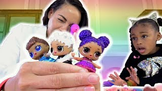 Toy Doctor Mommy! LOL Surprise Doll Visit The Toy Hospital