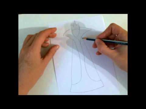 Видео как нарисовать Снежную Королеву карандашом поэтапно