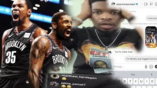 KEVIN DURANT & KYRIE IRVING BROOKLYN NETS LIVE REACTION! *IM IN COMPLETE SHOCK*