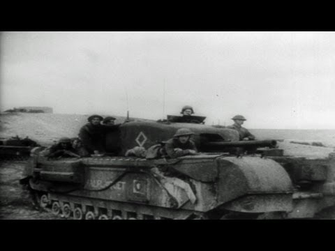 HD Historic Archival Stock Footage WWII Military News 1943 Allied Drive In North Africa