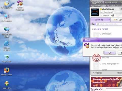 Hướng dẫn cài đặt và sử dụng phần mềm Yahoo Messenger