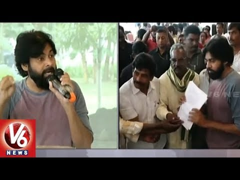 Pawan Kalyan Interaction With AP Land Expats In Visakhapatnam | Janasena Praja Porata Yatra | V6