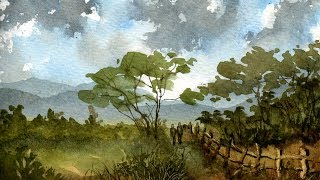 Watercolour Painting Landscape Demonstration