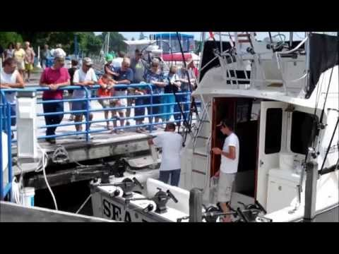 Catching Big Fish on Lake Michigan Sheboygan Wisconsin July 31, 2011