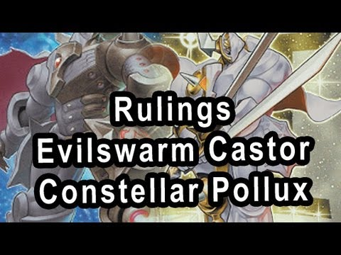 Rulings Evilswarm Castor Constellar Pollux