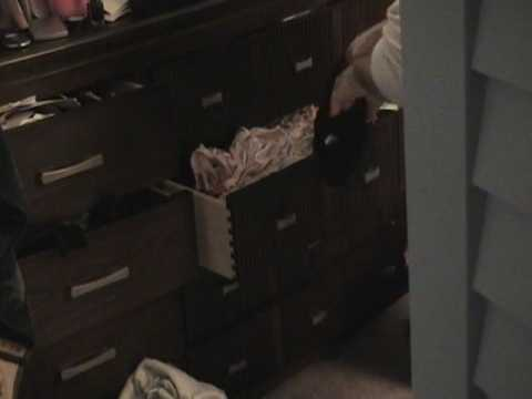 A Real Panty Drawer Thief Caught!!