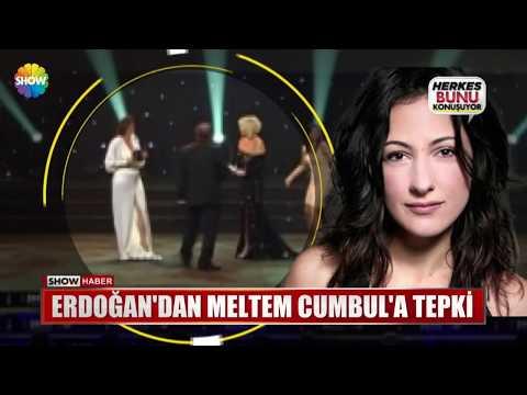 Erdoğan'da Meltem Cumbul'a tepki