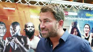 Eddie Hearn  NO MONEY to stage Saunders v Andrade IN THE UK - BOXING