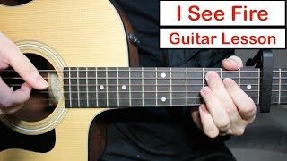 Ed Sheeran I See Fire   Guitar Lesson Tutorial How to play Fingerstyle Intro