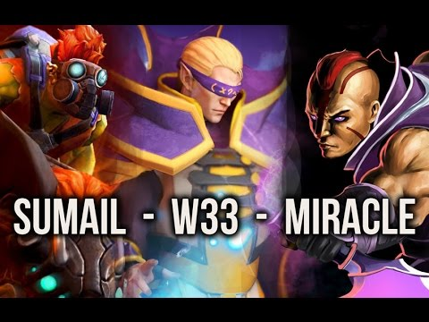 w33, Miracle-, SumaiL crazy 8000 MMR FIGHT - Dota 2
