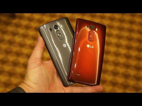 LG G Flex 2 vs LG G3 (CES 2015 Comparison)