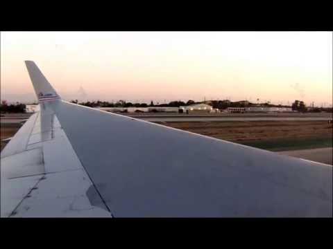 American Airlines 767 300 N337AN Landing at Los Angeles International Airport