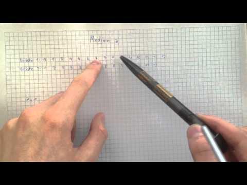 Zentralwert berechnen