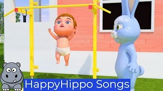 Rabbit and Baby Go to Gym Childrens Nursery Rhymes & Baby Songs Happy Hippo