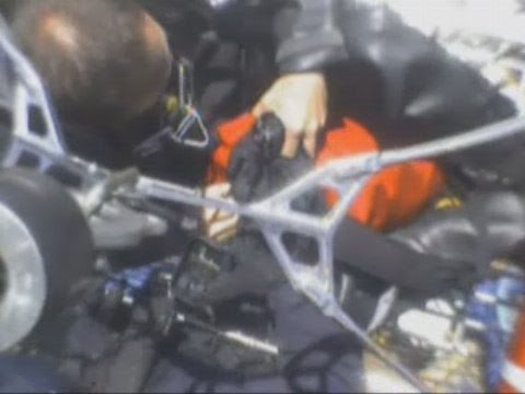 NYPD Video: Helicopter Rescue Of Man On Barge