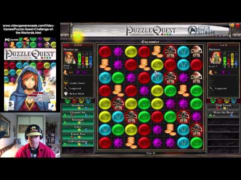 Puzzle Quest: Challenge of the Warlords - Gameplay - Battle with Undead Warrior - August 16, 2014