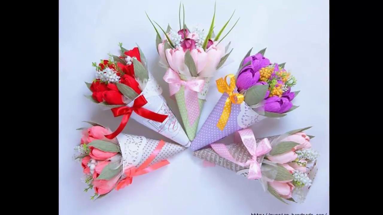 Букет для мамы своими руками из цветов 790