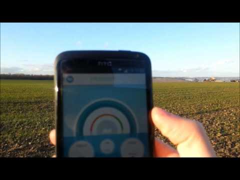 Free mobile: Test de débit sur l'antenne de Chézy sur marne