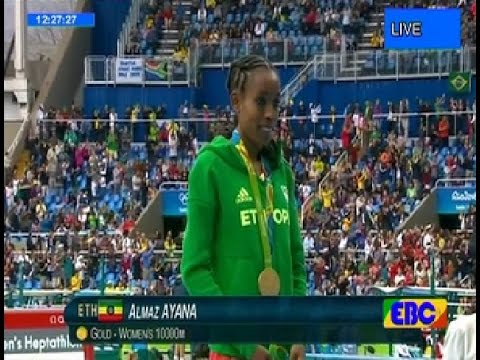 Almaz Ayana new 10000 M world record  Gold Medal , tirunesh dibaba got bronze Medal