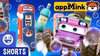 #appMink kids video: Evil Bus & Fun Soap Tricks with appmink Police Car
