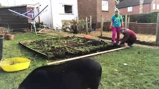 Working on Veg Patch, Making a Cold Frame for Veg Trug