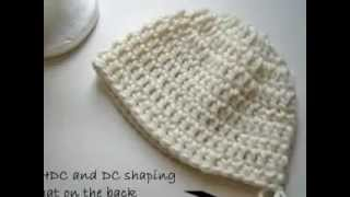 Crochet Polar bear hat tutorial&pattern