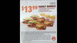 Burger King $13.99 Coupon Family Bundle review mukbang #bulking