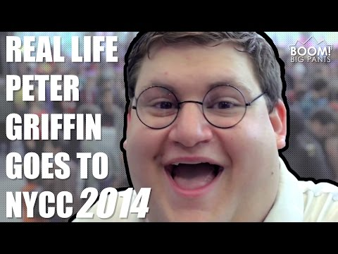 Real Life Peter Griffin Goes To Nycc 2014 video
