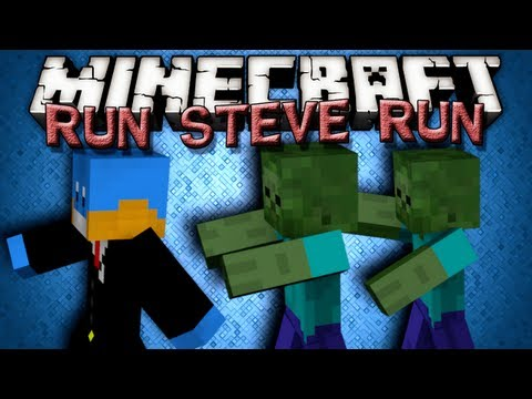 Minecraft Minigames - RUN STEVE RUN!!