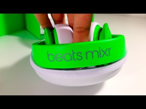 beats by dre neon green mixr unboxing
