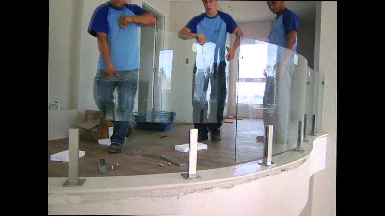 #324664 Instalação Sacada Vidro Curvo   156 Janelas De Vidro Instalação