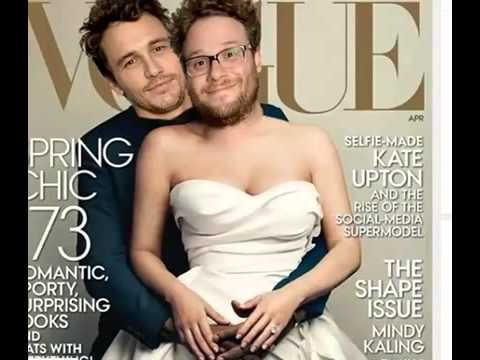 James Franco and Seth Rogen Spoof Kanye West and Kim Kardashian's Vogue Cover