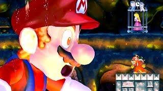 New Super Bowser Wii (EVIL MARIO FINAL BOSS, Ending & Castle Level) - 悪の マリオ