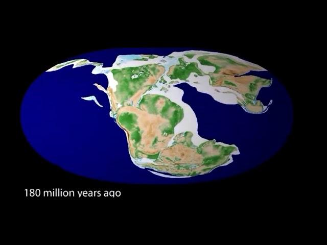 Путешествие в прошлое и будущее Земли. Посмотри за 3 минуту 500 миллионов лет эволюции Земли