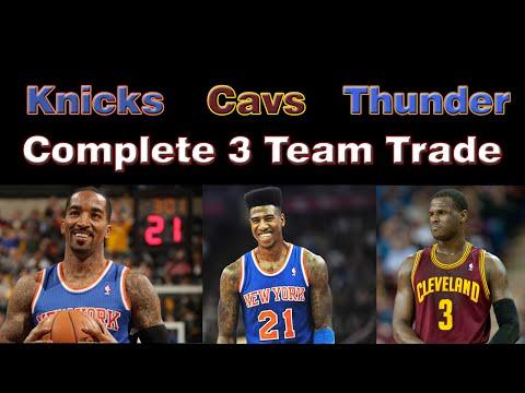 Cleveland Cavs, OKC Thunder, & NY Knicks complete 3-Team Trade: J.R Smith, Shumpert, Waiters