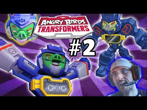 Lets Play Angry Birds Transformers Part 2: Soundwave Pig Unlocked! (face Cam   Commentary Gameplay) video