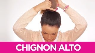 Come fare lo chignon alto | Le Acconciature fai da te di Elisa | Video tutorial Pettinature