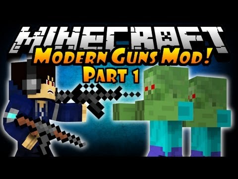 Minecraft: Modern Guns Mod - Pistols & Knife! (Episode 1)