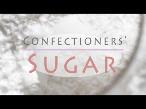 How to Make Icing Sugar - Homemade Confectioners' Sugar Recipe - Powdered Sugar Substitute