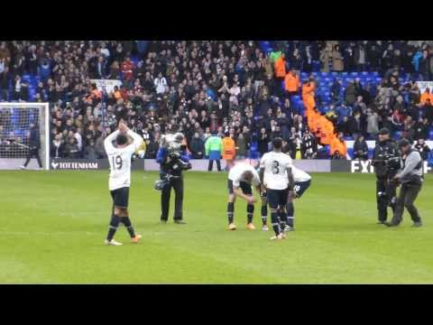 Jermain Defoe at end of last home Premier League match for Spurs