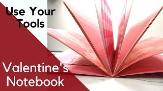 Valentine's Journal (TNI) with We R Memory Keepers Bookbinding Tool