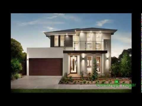 Fachadas de casas modernas estilo oriental youtube for Casas con terraza al frente