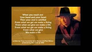 Watch Tracy Lawrence From What We Give video