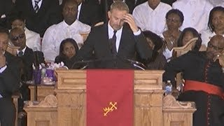 Whitney Houston Funeral Kevin Costner Fights Back Tears And Gets Standing Ovation