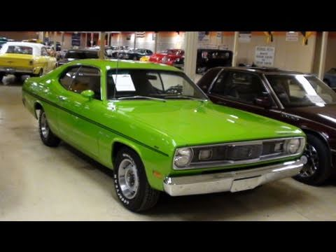 1970 plymouth duster 340 lime green muscle car youtube. Black Bedroom Furniture Sets. Home Design Ideas