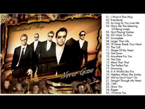 Backstreet Boys Greatest Hits - Best Songs Of Backstreet Boys (Full Album)